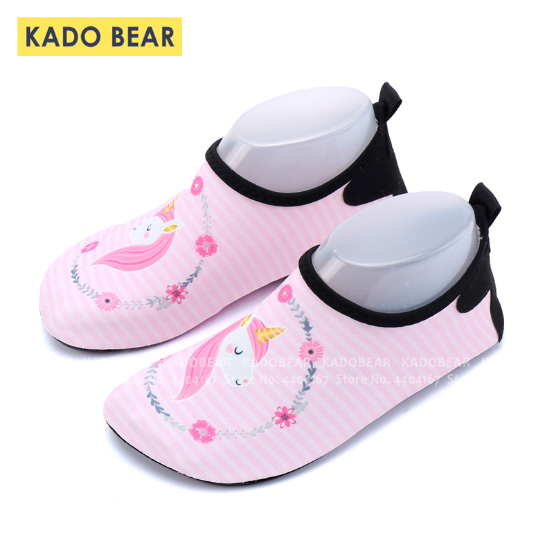 Children Unicorn Diving Swimming Yoga Soft Shoes Kids Girls Beach Water Sports Surf Sandals Toddler Boys Outdoor Summer Slippers