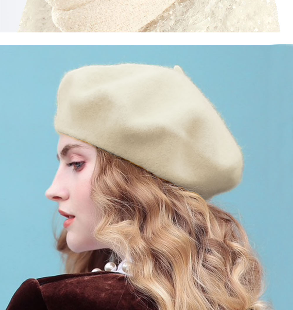 Elegant Lady Women Wool Felt Warm French Classic Beret Beanie Slouch Hat Cap Tam 25