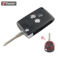 YIQIXIN-funda para llave de coche, accesorio modificado para Lada Priora Kalina Niva Vaz Granta Samara 2108 Xray, carcasa de repuesto de coche, 3 botones, plegable