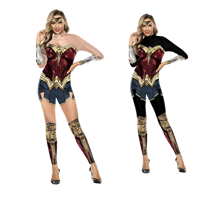 Wonder Woman Costumi Delle Donne Supereroe Diana Costume Costume di Halloween per Le Donne Vestito Sexy Diana Carnevale Cosplay disfraz mujer