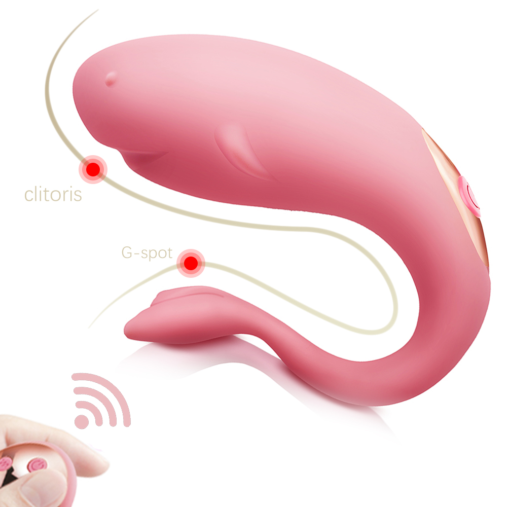 Remote Control Dual Vibration Jumping Egg Clitoral Stimulator G-spot Vaginal Massager Wearable <font><b>Dildo</b></font> Vibrator <font><b>Sex</b></font> <font><b>Toys</b></font> <font><b>for</b></font> <font><b>Coupl</b></font> image