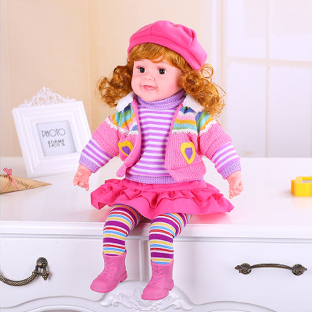 Bébé poupée jouets Simulation intelligente parler fille poupée renaître enfant jouets éducatifs noël cadeau bebes renaître bonecas