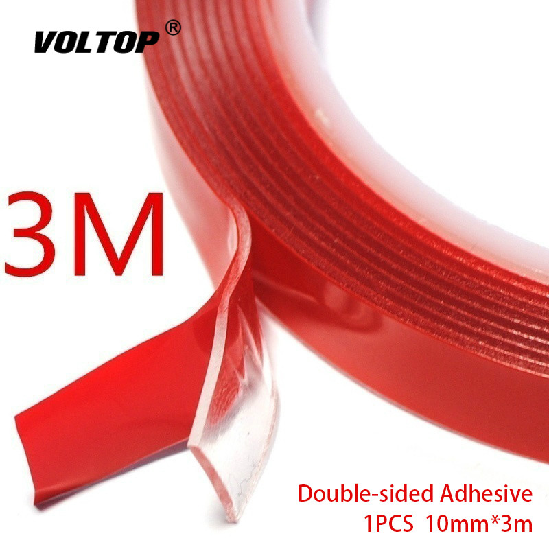 10mm 3m Double-sided Adhesive Car Accessories Waterproof Stickers Ornament Decoration Self Adhesive Foam Tape Heat Resistant
