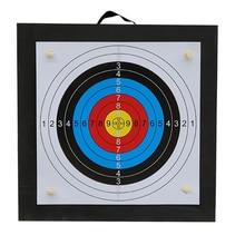 양궁 슈팅 대상 세트 50*50*5cm EVA 폼 대상 대상 종이 손톱 야외 스포츠 사냥 양궁 액세서리