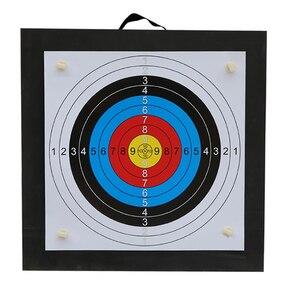 Image 1 - Tir à larc cible de tir ensemble 50*50*5cm EVA mousse cible avec cible papiers ongles Sports de plein air chasse tir à larc accessoires