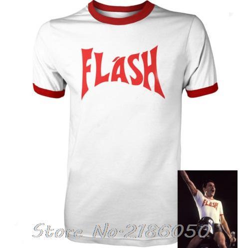 FREDDIE MERCURY FLASH GORDON QUEEN ROCK BAND TSHIRT RETRO HIP HOP FANCY DRESS 80's Top Tee Front&Back Printing Men's T-shirt(China)