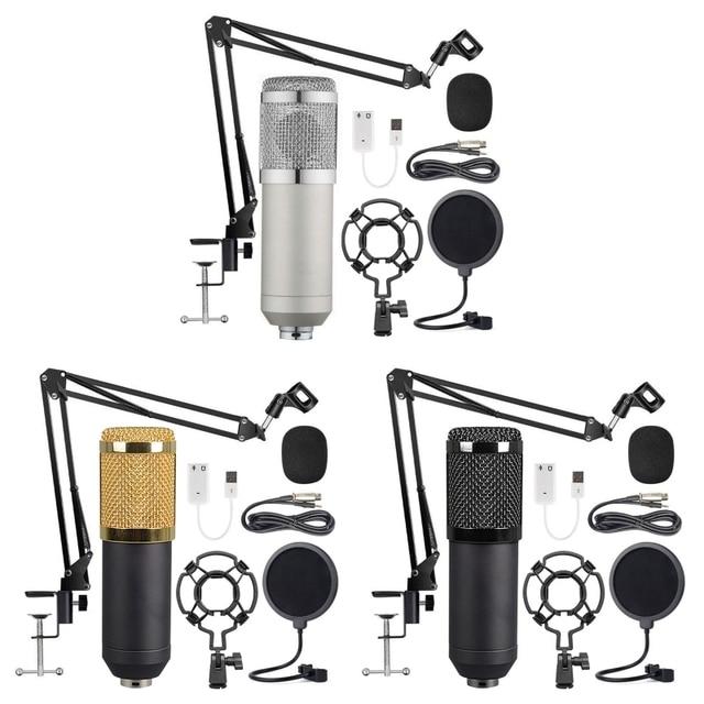 Condenser Microphone Bundle BM 800 Mic Set for Stu dio Recording & Brocasting Microphone Kit for Pc Computer
