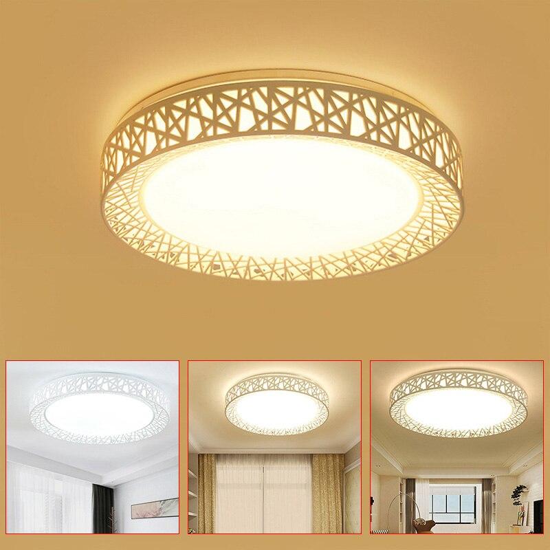 LED Ceiling Light Bird Nest Round Lamp Modern Fixtures For Living Room Bedroom Kitchen BJStore