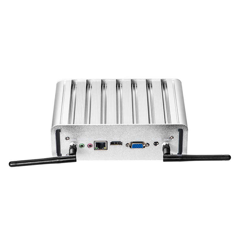 XCY אינטל פנטיום 4405U מיני מחשב Windows 10 לינוקס 6xUSB HDMI VGA WiFi Gigabit Ethernet HTPC משרד מיקרו מחשב fanless