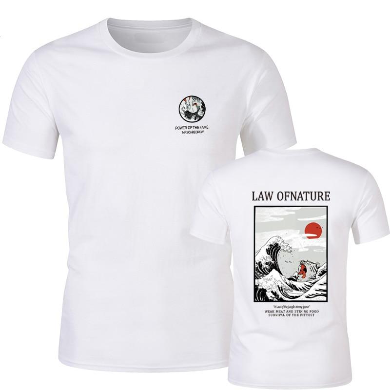 Japanese Funny Cat Print Fashion Men Women tshirt Cotton Casual t shirt men Top Tee Hipster Hip Hop Style Brand Homme T-Shirt