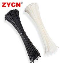 100PCS Nylon Self Locking Cable Tie 3*100/3*150/3*200 White Black color5*100/5* 150/ 5*200/5*250/5*300