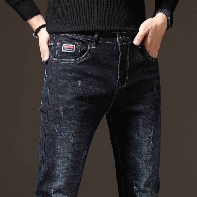 1622 [Autumn And Winter Cowboy Main] New Style Jeans Men's Slim Fit Pants Men Straight-Cut Versitile Pants Men's