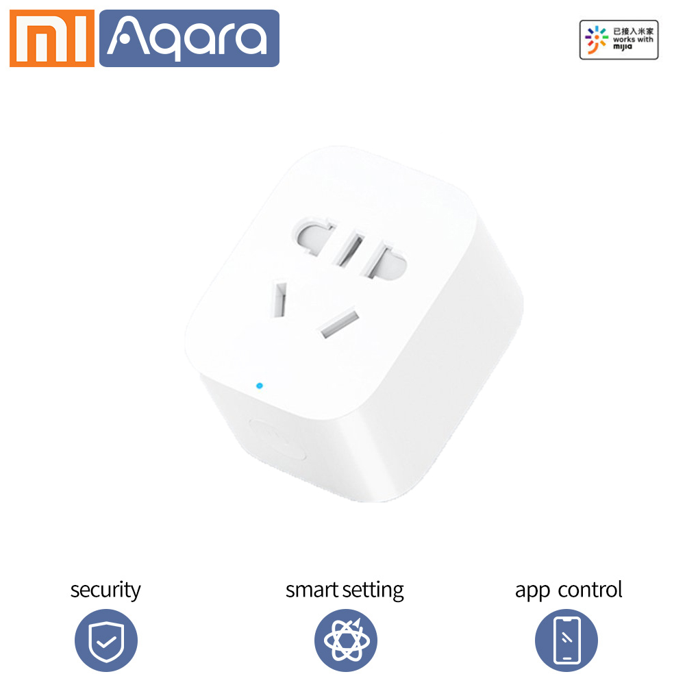 Xiaomi Smart Plug Mijia Smart Socket ZigBee Wifi Version Phone Remote Control Timer Power Detection Mijia Mi Home APP