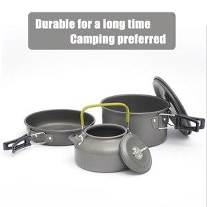 Image 2 - Pentole da campeggio di qualità set di pentole da esterno stoviglie da campeggio set da cucina stoviglie da viaggio posate utensili escursionismo set da picnic