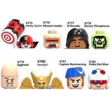 Figuras de acción de superhéroes, Leader El Dorado, Doctor Phosphorus, Egghead, HawkGirl, Polka, Man Quinn Block, minifiguras de juguete