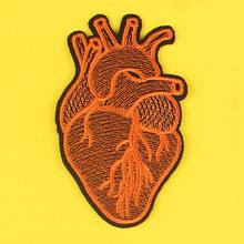 DIY Heart Patch Embroidered Patches For Clothing Punk Colorful Heart Iron On Patches On Clothes Jacket Apparel Applique Stripes prajna van gogh patch military biker patch punk applique iron on embroidered patches for clothes stripes stickers on clothes diy