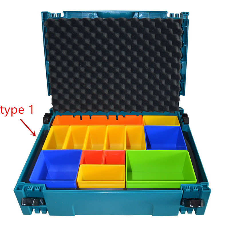 Makita P-83652  MacPak Insert With Coloured Compartments  Box Tools Suitcase Case 821549-5(type 1)