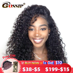 250 Density Lace Wig Deep Wave 13x4 Lace Front Wig Human Hair Non Remy Pre Plucked Wigs For Women Lace Frontal Human Hair Wig