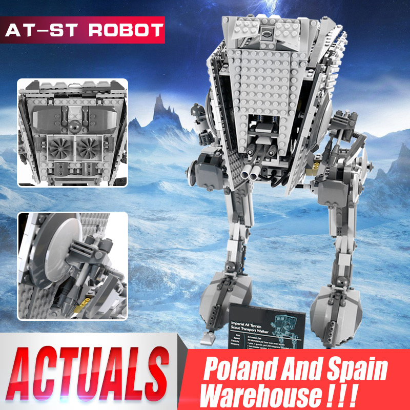 DHL 05052 Star Plan Wars Series The 10174 Empire ATST Star Walker Robot Building Blocks Bricks Assembly Model Kids Toys For Gift