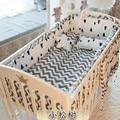 6 шт.  сосна  волнистая кроватка  Детский Комплект постельного белья  хлопковая кроватка  бампер  комплект для детской кроватки  для новорожд...