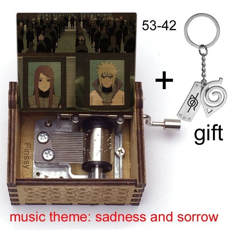 Музыкальная шкатулка с мотивом Наруто, грусть и печаль, Обито, нетати, Наруто, Какаси, рождественский подарок для фанатов