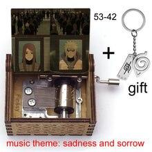 Naruto shippuden música tema tristeza e tristeza obito neji itachi naruto kakashi figura impressão caixa de música fãs presente de natal