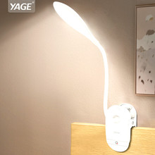 YAGE 7300K USB Table Lamp with Clip 1200mAh 18650 Rechargeable Led Desk Lamp Touch Lampe Flexo Bureau Study Night Light Table