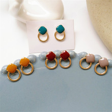 South Korean jewelry fashion earring geometric circular delicate earrings circle for women