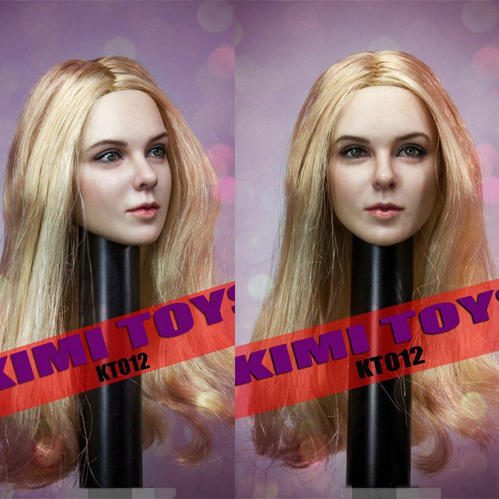 KIMI TOYS 1/6 Female Figure Head Sculpt Carving Model KT012 For 12
