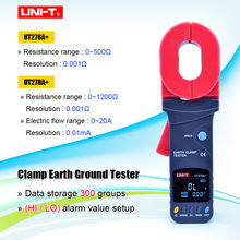 UNI-T UT276A+/UT278A+ High Precision Digital Display Clamp Earth Ground Testers Clamp Ground Resistance Tester(China)