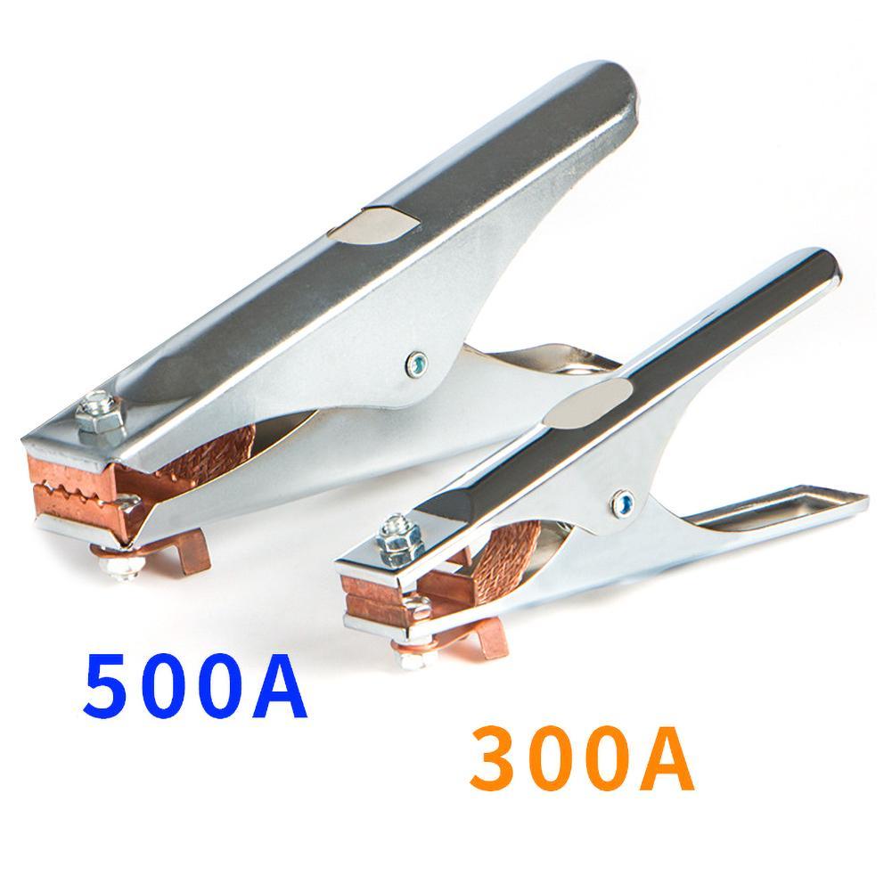 Электроплакированный зажим для заземления в форме 300/500A, медный зажим для ручной сварки, тип США для ручной сварки