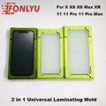 2 in 1 Universal Laminieren Form für iPhone 11 XR XS max OCA Glas LCD Touchscreen Ausrichtung Mould Kleber lage Gummi Matte-in Elektrowerkzeug-Sets aus Werkzeug bei