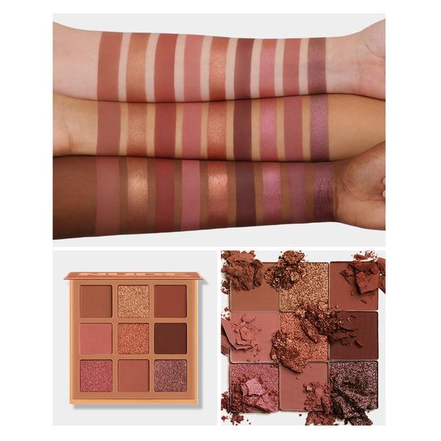 Korea Cosmetic Matte Eye Shadow 9 Colors Make Up Set Nudes Pallete Eyeshadow Palette Wholesale Fashionable Shimmer Eyeshadow 2
