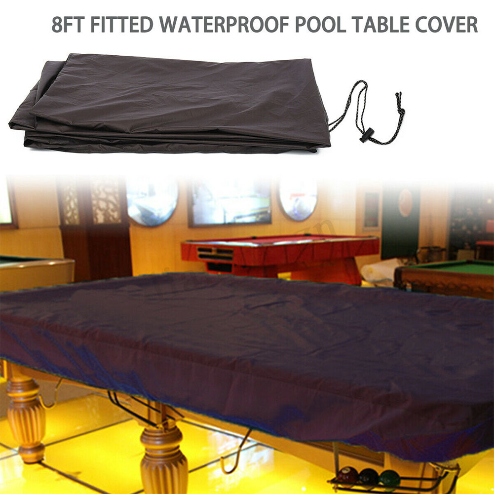 Waterproof Pool Table Cover Protector Durable Dustproof Portable With Drawstring Snooker Billiard Oxford Cloth