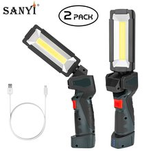 Światło robocze COB LED przenośna lampa robocza ładowalna latarka USB magnetyczna lampa robocza reflektor awaryjny naprawa samochodów