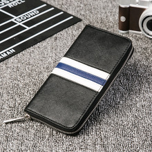 Mobile phone bag new mens wallet clutch trend color long multi-card
