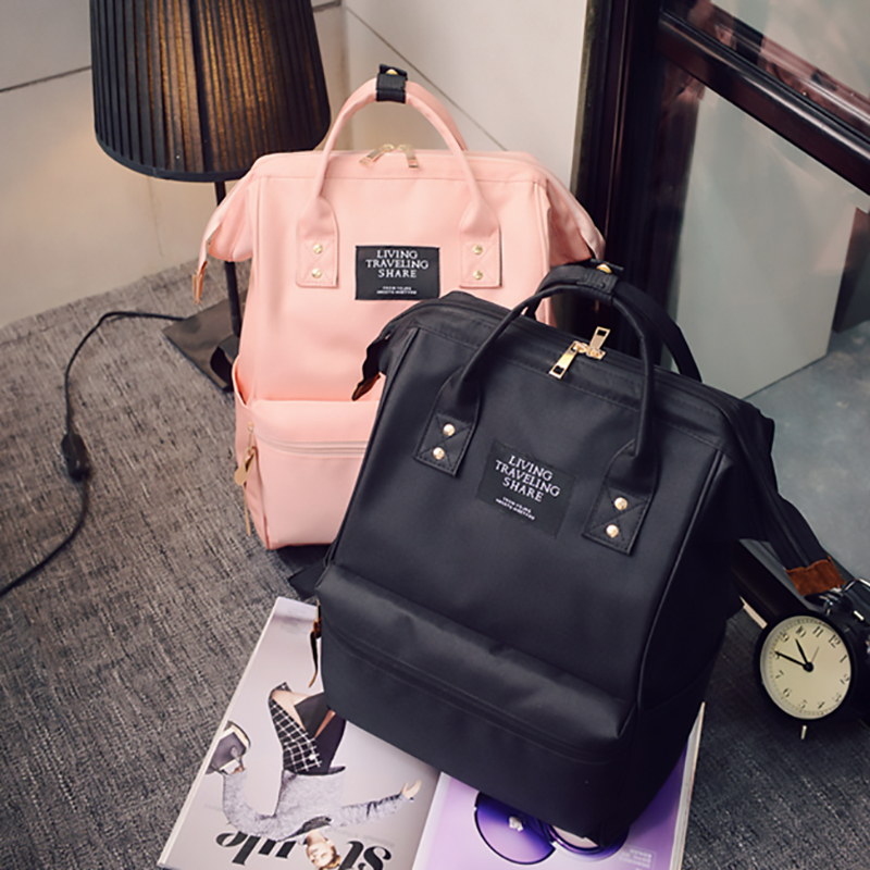 Fashion Backpack High-capacity Knapsack Women Backpack Pure Color Teenager Backpack Female Bag Mochila Bagpack Shoulder Bag 2019