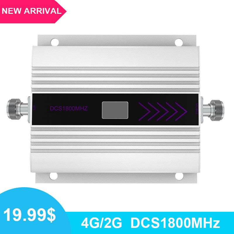 Mini 2G 4G 1800 LTE DCS Repeater Cell Signal Booster Amplifier 4G 1800mhz Band 3 Cellular Signal Booster Amplifier LCD Display /