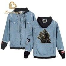 New Hooded Denim Jacket Womens Hoody Coat Doom Retro Jackets Girls Hip Hop Street Casual Bomber Harajuku Fashion Coats