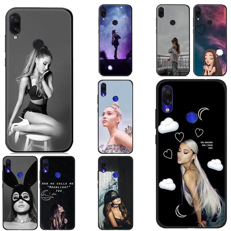 IYICAO Ariana Grande Ag Soft Case for Xiaomi Redmi K20 8A 7A 7 S2 6 Pro 5 Plus for Redmi Go 5A 4X 4A Silicone