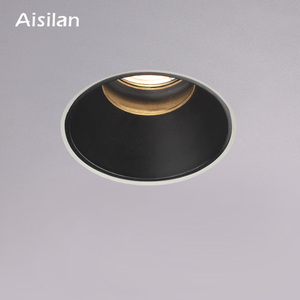 Aisilan LED recessed downlight Frameless anti-glare for living room corridor bedroom cutout size 8cm spot light lamp(China)