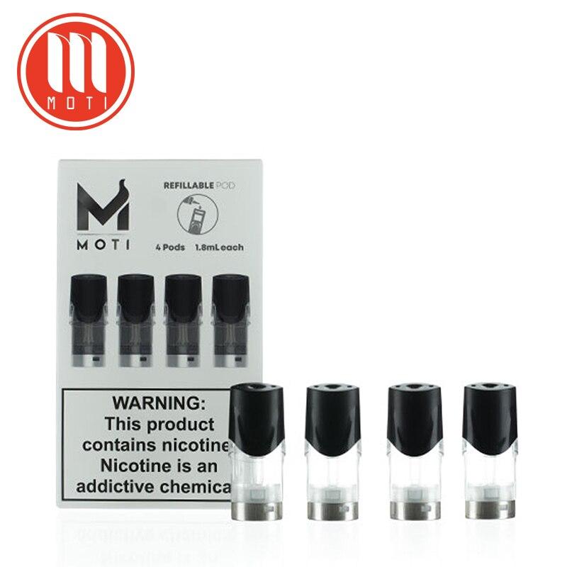 Moti original os cbd substituição recarregável pod cartucho 1.8ml capacidade 4 unidades/pacote ajuste moti pod vaper kit cigarro eletrônico