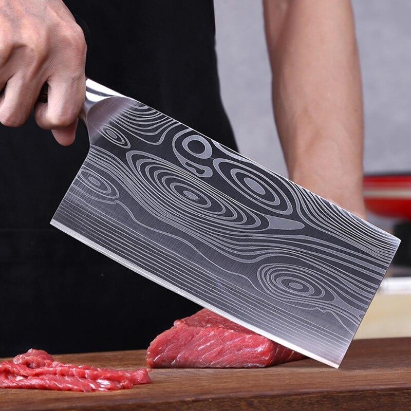 9cr18mov Sanhe стальной кухонный нож шеф повара овощерезка отель Мясорубка разделочный нож острый прочный высокая твердость Кухонные ножи      АлиЭкспресс