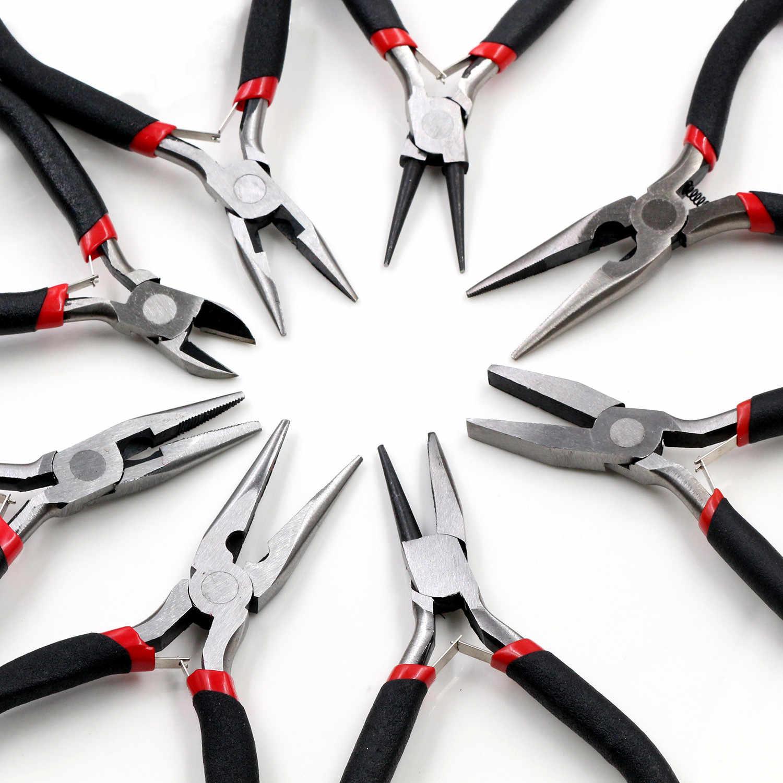 1 Buah Stainless Steel Jarum Hidung Tang Perhiasan Membuat Tangan Alat Hitam 12.5 CM