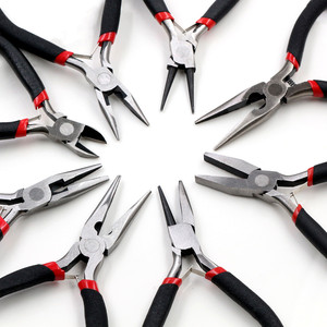 1 Piece Stainless Steel Needle Nose Pliers Jewelry Making Hand Tool Black 12.5cm(China)