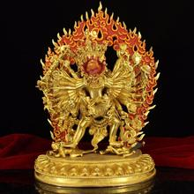 The Top Collection of Kalachakra Copper Handmade Buddha Statue Home Decor Buddha Sculpture Fengshui Figurines Ornaments Antique цена 2017