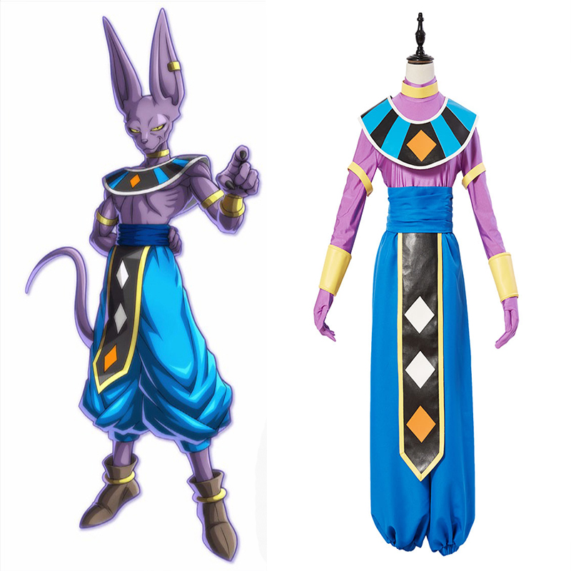 Anime Dragon Ball Super Cosplay Costume Gods Of Destruction Birusu Cosplay Costumes Halloween Party Dragon Ball Z Beerus Costume