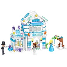 Girls Friends Lili Ice House Castal Winter Building Blocks Princess Castle Toys Girl B716