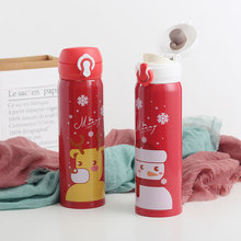 500ML Christmas bullet cover stainless steel mug light weight cute girl portable cup 304 material