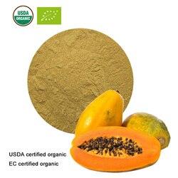 Extrait de papaye en poudre de fruit de papaye biologique certifié USDA et EC 10:1 bonbons d'enzymes de papaïne